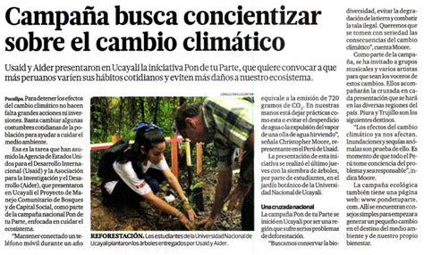 Comentarios De Noticias Y Articulos Ca 241 A Busca Concientizar Sobre El Cambio Clim 225 Tico Lima Cop20 Cmp 10