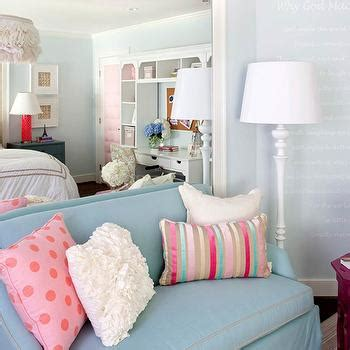 sofa for teenage room pink and blue teen bedroom contemporary girl s room