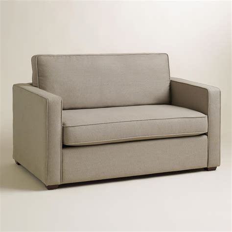 world market sleeper sofa pebble gray chad chair and a half twin sleeper world market