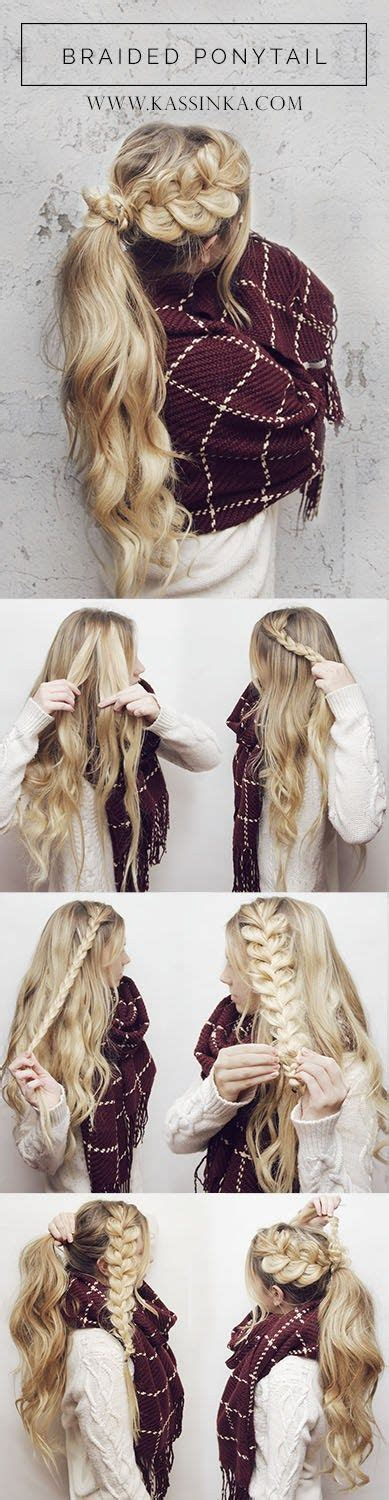 hair pieces to wear with fo hawk hairstyle 1000 ideas about cute easy ponytails on pinterest