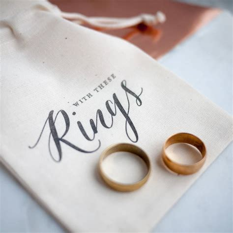 Wedding Ring Bag by Calligraphy Wedding Ring Bag By Print For Of Wood