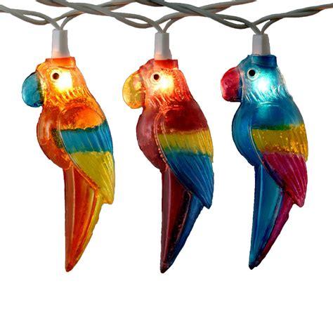 parrot string lights outdoor tiki string lights meideas