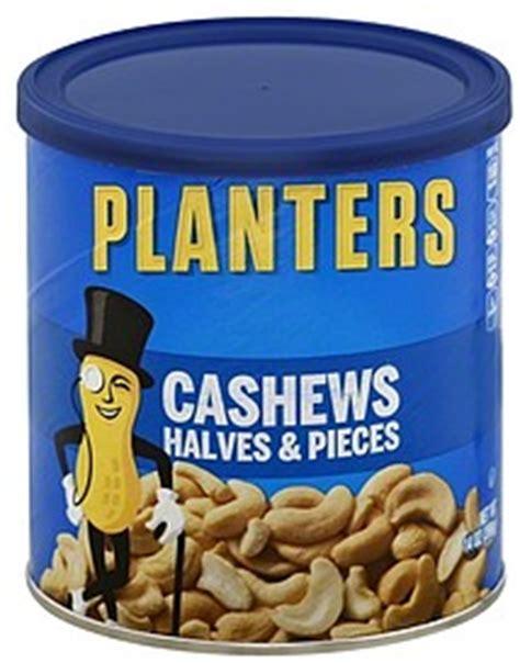 Planters Cashews Nutrition by Planters Cashews Halves Pieces 14 0 Oz Nutrition