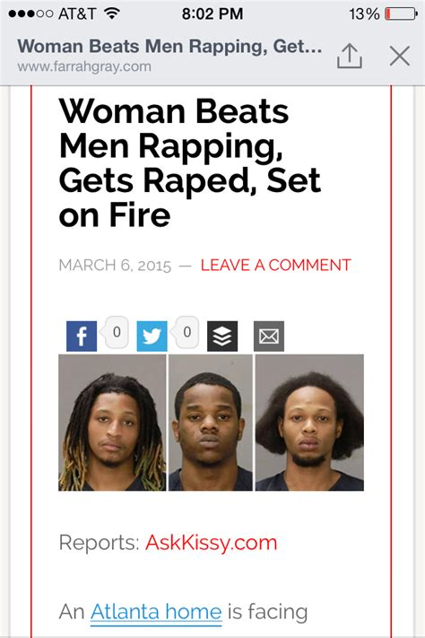 atlanta rappers rape female set her on fire after losing when your girl say she can beat you and the squad in a rap