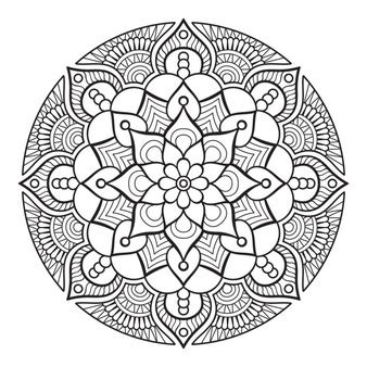 designs for ornaments flower outline vectors photos and psd files free