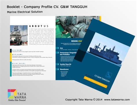 contoh layout profil perusahaan contoh desain company profile perusahaan bidang marine