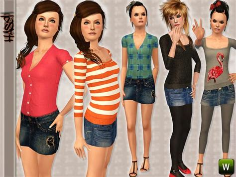 sims 3 teen pregnancy clothes teen hasel set 48