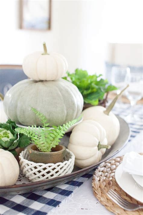 Neutral Tabletop Pieces by Easy Affordable Neutral Toned Fall Table Centerpiece