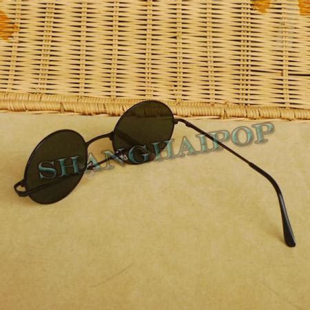 Big Lennon Clear Frame Kacamata hippy lens sunglasses 50 s frame shades