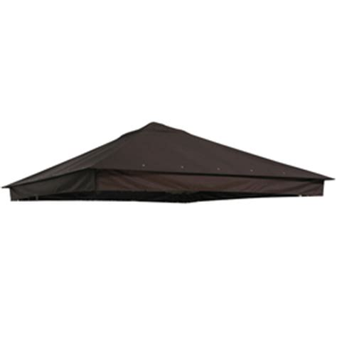 Patio Umbrella Replacement Canopy Lowes Shop Garden Treasures Brown Replacement Canopy Top At