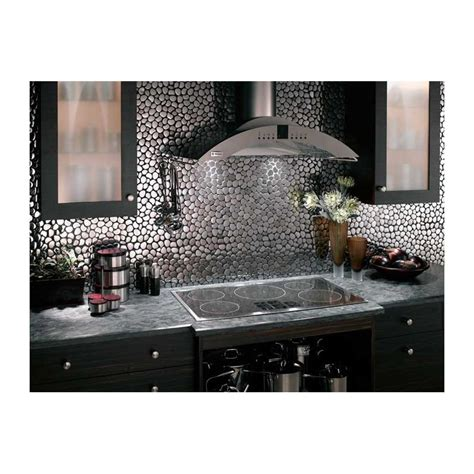 Credence En Mosaique by Mosaique Inox 1 Plaque Carrelage Faience Credence Galet