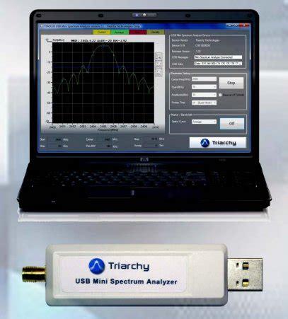 Usb Rf Spectrum Analyzer 815 Ghz Tsa8g1 By Triarchy Technologies Triarchy Tsa8g1 Usb Mini Spectrum Analyzer Tequipment Net