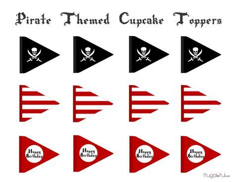 Free Printable Pirate Cupcake Toppers free pirate cupcake printable toppers frugalful