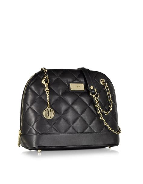 Dkny Black Quilted Handbag by Dkny Gansevoort Black Quilted Nappa Satchel Bag In Black