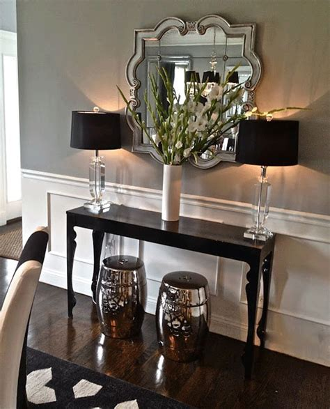 great mirror and console home decor ideas