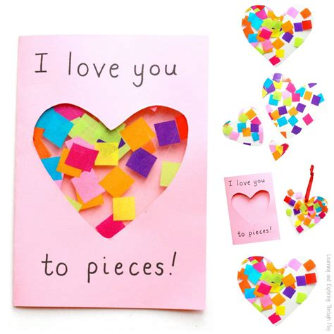 how to make a mothers day card you to pieces suncatcher card craft activities and
