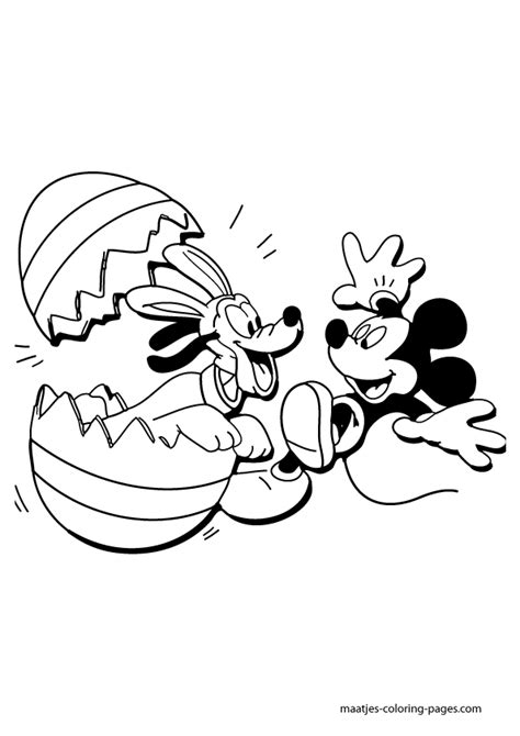 mickey mouse easter coloring pages to print quot mickey mouse and pluto easter coloring page coloring pages