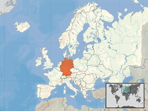 europe germany map map of germany in europe