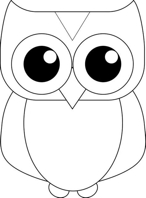 printable outline of an owl search results for free owl template printable