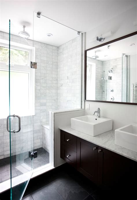 Modern Bathroom Tiling Floating Vanity Contemporary Bathroom Ty Larkins Interiors