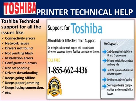 toshiba printer technical 1 855 662 4436 support phone number