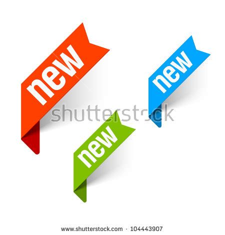 new free sign new vector vectores en stock 104443907