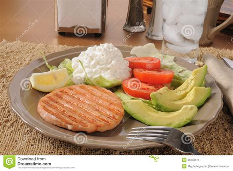 Avocado And Cottage Cheese Diet by Diet Platter Royalty Free Stock Image Image 35633516