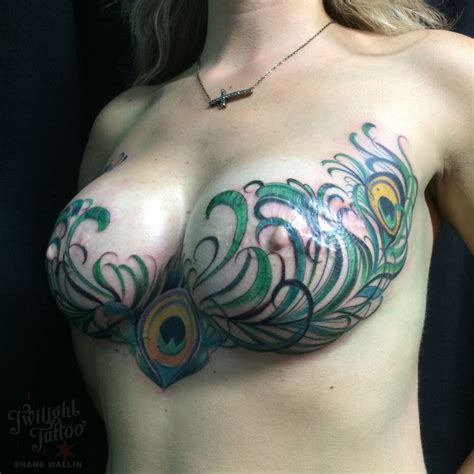 tattooed nipples mastectomy mastectomytattoo mastectomy peacock chest feather