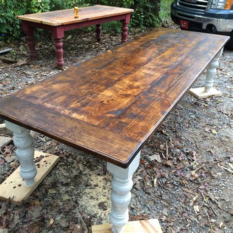 10 foot rustic farmhouse table in pine