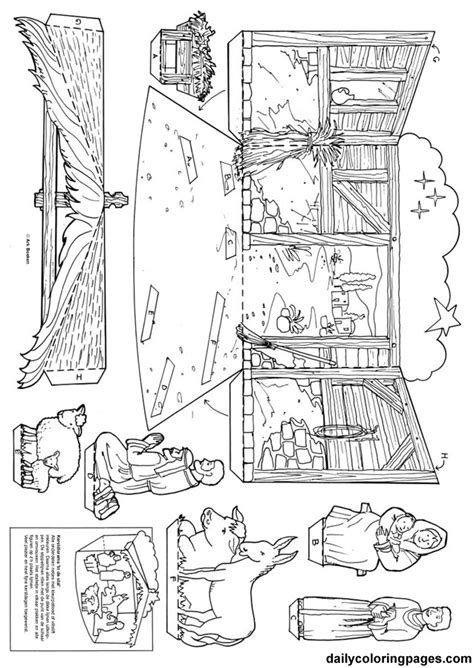 nativity coloring page pdf best photos of christmas nativity scene coloring page