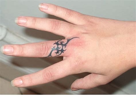 tribal wedding band tattoos 26 astonishing finger designs