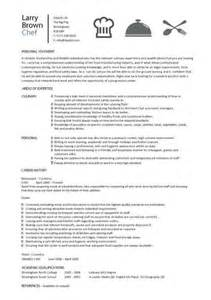 Chef Description by Sous Chef Description Template By Larry Brown Chef