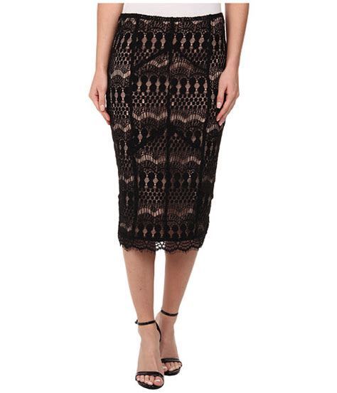 Color Panel Midi Skirt bardot lace panel midi skirt at zappos
