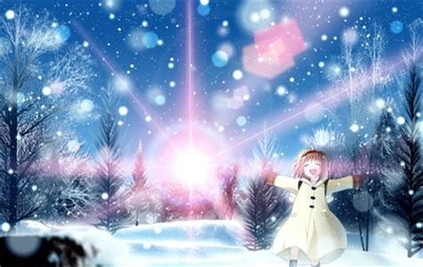 winter snow kanon sunlight tsukimiya ayu anime girls high