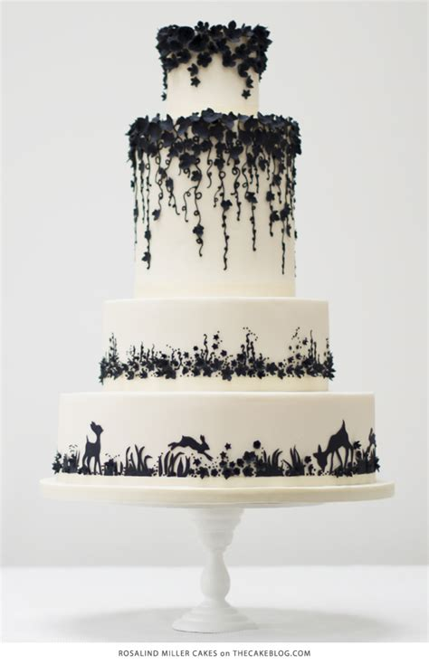 Black And White Wedding Cakes by 10 Pretty Black Cakes