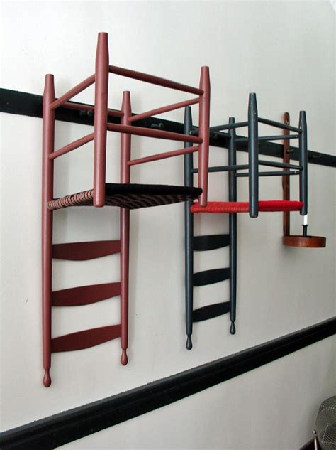 Hanging Folding Chairs On Wall by Shaker Design At Pleasant Hill Kentucky Travel Photos