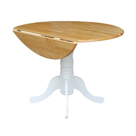 42 Inch Drop Leaf Pedestal Table by T 42dp 42 Quot Drop Leaf Table Unfinished Furniture Of