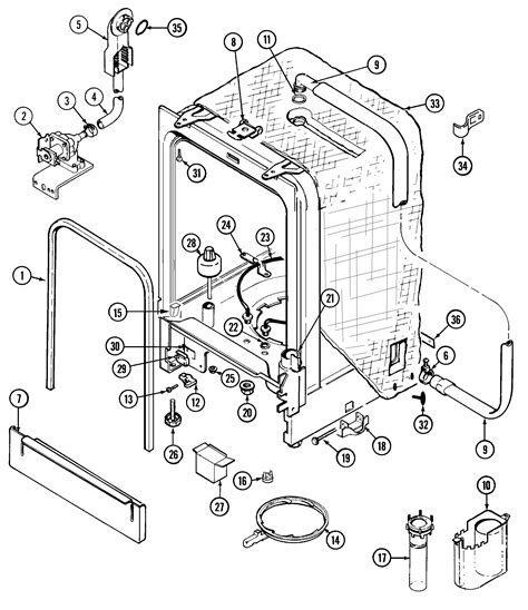 maytag dishwasher parts diagram refrigerators parts maytag dishwasher parts