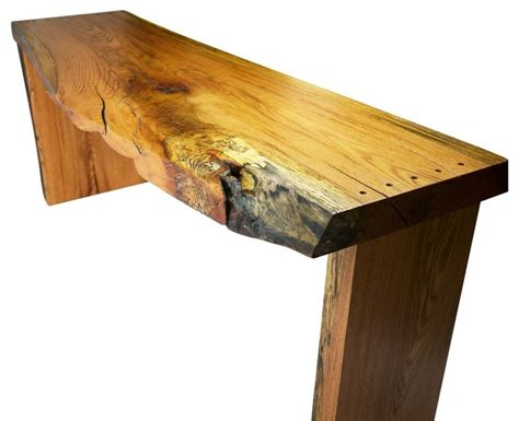 Narrow Oak Console Table Spalted Narrow Oak Desk Rustic Console Tables By Robin Wade Furniture
