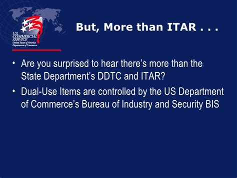 bureau of industry and security bis export compliance itar 1 of 3
