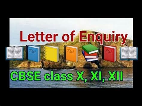 Business Letter For Class Xii Letter Of Enquiry Cbse Class X Xi Xii Writing Skills