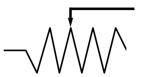 adjustable resistor symbol schematic symbol for a resistor get free image about wiring diagram