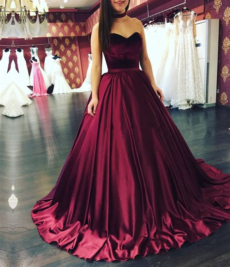 burgundy color prom dress burgundy gowns burgundy wedding dresses sweetheart
