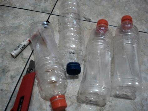 Tempat Pakan Burung Dari Botol membuat tempat pakan dan minum alternatif di kandang