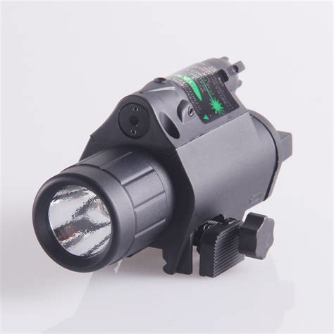 Tactical Green Laser Sight Cree Led Flashlight Combo For