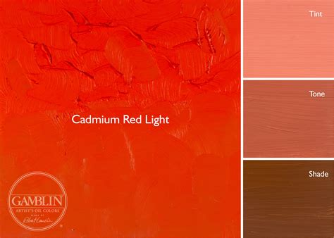 cadmium color impressionists palette gamblin artists colors