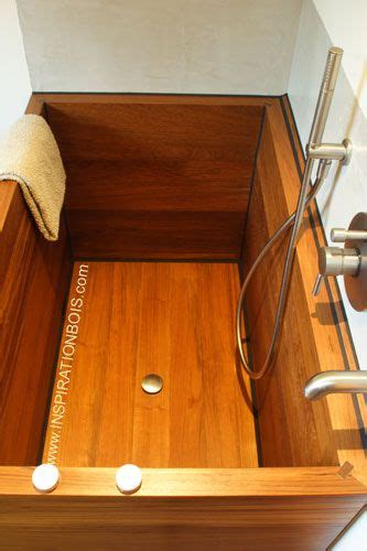 baignoire en bois japonaise baignoire japonaise ofuro en bois en teck massif sur