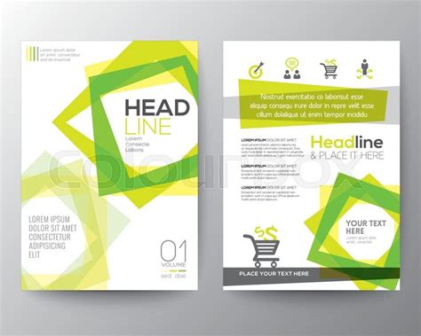 vector brochure flyer design layout template in a4 size abstract square shape background for poster brochure flyer