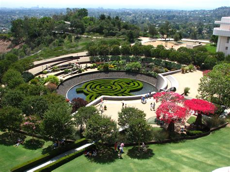 getty museum garden art in california