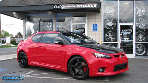 2013 scion tc black rims car scion tc on eurotek uo8 wheels california wheels